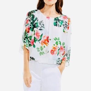 Vince Camuto Havana Tropical Batwing Blouse
